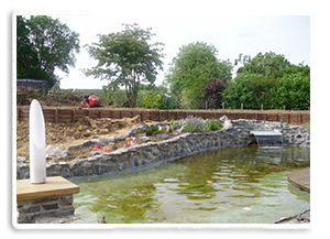 Création d'étangs après